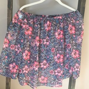 Express off the shoulder floral blouse. Size XS